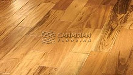 "Solid Tigerwood Flooring, Sunca, 4-1/2"" x 3/4"", Select & Better Color: Natuiral Hardwood flooring"