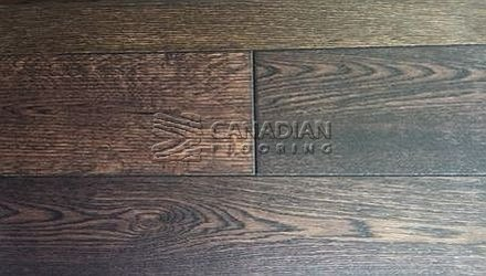 "Engineered Oak, Fuzion, <br>Bistro Collection,<br> 5.0"" x 3/4"", <br>Color: Java"