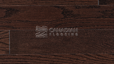"Red Oak, Superior Flooring,  5-3/16"" x 3/4"", Brushed Finish, <br> Color:   Coffee"