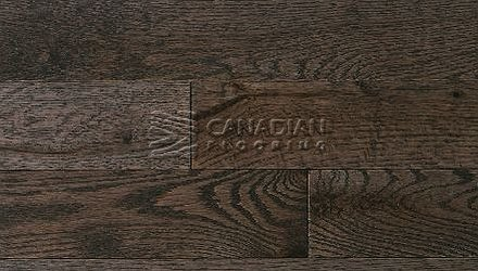 "Solid Red Oak,  Panache, Wire-Brushed Finish  3-1/4"",   4-1/4"" Color: Oxford HARDWOOD FLOORING"