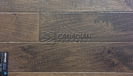 "Engineered White Oak Superior Enhanced 5.0"" x 3/4""Hand-Scraped Finish Color: Rawhide Engineered flooring"